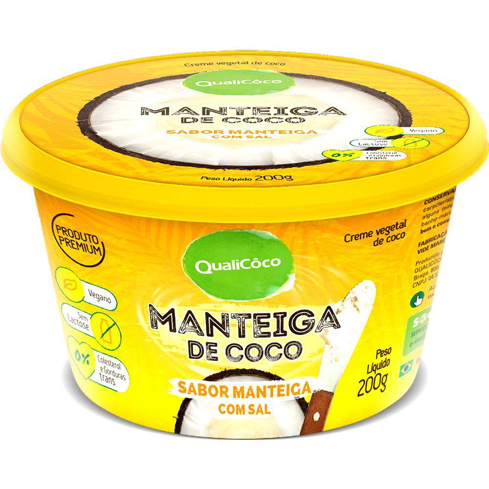 Manteiga de Coco sabor manteiga com sal