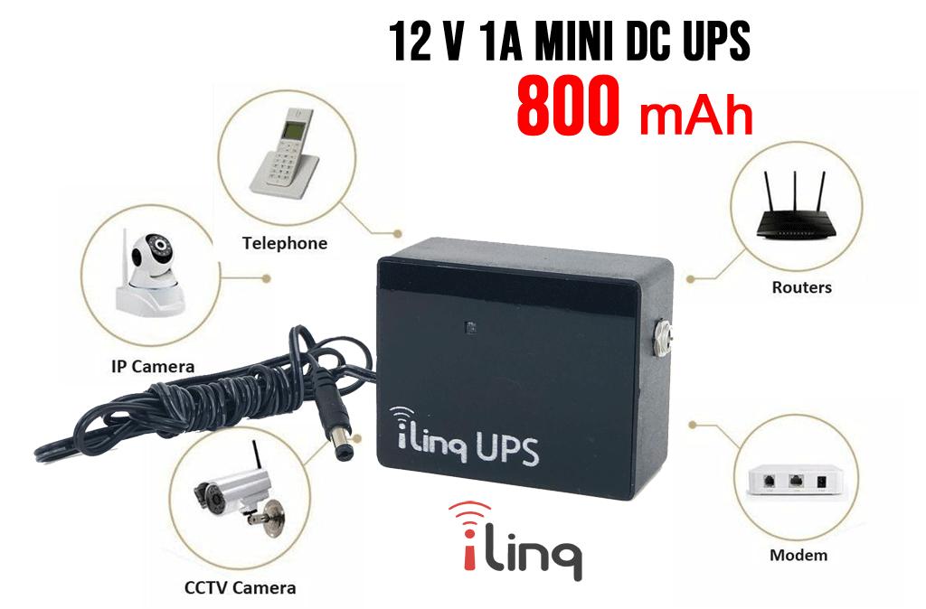 Mini UPS para Dispositivos de Missão Crítica de 12 Volts: Câmeras IP, Switches, Roteadores, LED's