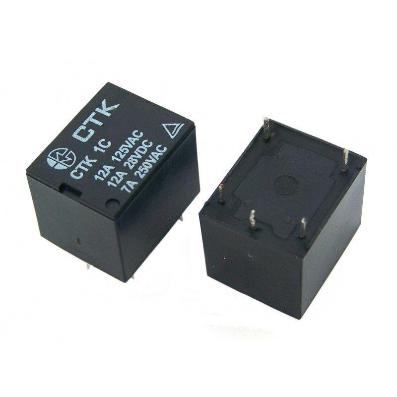 Relê Miniatura de Potência CTK 1C-12A-05VDC