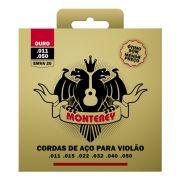 Jogo de Cordas Aço Extra Leve Ouro p/ Violão EMVA 20 - Monterey