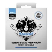 Jogo de Cordas Aço Extra Leve Prata p/ Violão EMVA 10 - Monterey
