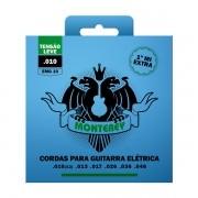 Jogo de Cordas p/ Guitarra 010 - Monterey (1 Corda Mi Extra)
