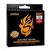 Jogo de Cordas p/ Guitarra 010 Leve - Solez (2 Cordas Extras)