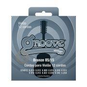 Jogo de Cordas p/ Violão 12 Cordas 010 85/15 - Groove