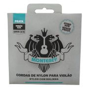 Jogo de Cordas p/ Violão Nylon Pesado Prata Alta Tensão com Bolinha - Monterey