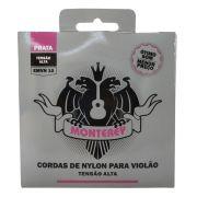 Jogo de Cordas p/ Violão Nylon Pesado Prata Alta Tensão - Monterey