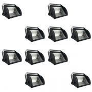 Kit 10 Refletores Mini Set Light + Lâmpada Palito Halógena 300w 220v 118mm