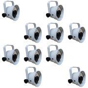 Kit 10 Unidades - Refletor Par 36 TX LED 3W Branco Quente / Branco - Volt