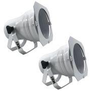 Kit 2 Unidades - Canhão Spot Par 38 Branco Alça Dupla - Volt