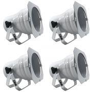 Kit 4 Unidades - Canhão Spot Par 38 Branco Alça Dupla - Volt
