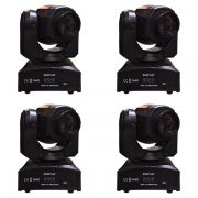 Kit 4 Unidades - Mini Moving Head Spot Led 30w DMX