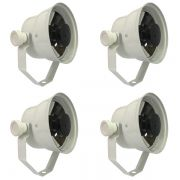 Kit 4 Unidades - Refletor Par 36 TX LED 1 X 3W - Branco Quente