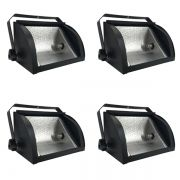 Kit 4 Unidades - Refletor Set Light 1000w Preto