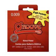 Kit 5 Unidades - Jogo de Cordas p/ Guitarra 009 - Groove