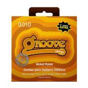 Kit 5 Unidades - Jogo de Cordas p/ Guitarra 010 - Groove