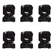 Kit 6 Unidades - Mini Moving Head Spot Led 30w DMX