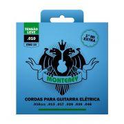 Kit com 5 Unidades - Jogo de Cordas p/ Guitarra 010 - Monterey
