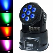 Mini Moving Head Wash 7 Leds 12w