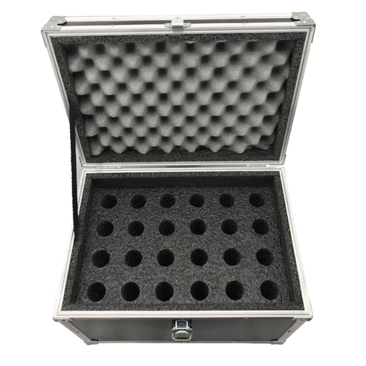 Hard Case Maleta para 24 Microfones - RS  - RS Som e Luz!