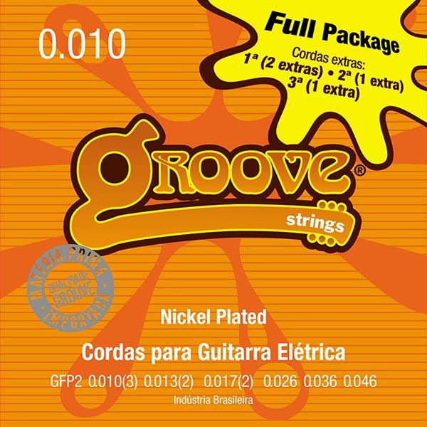 Jogo de Cordas p/ Guitarra 010 - Groove (4 Cordas Extras)
