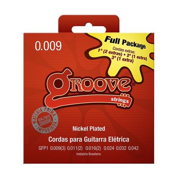 Jogo de Cordas p/ Guitarra 009 - Groove (4 Cordas Extras)