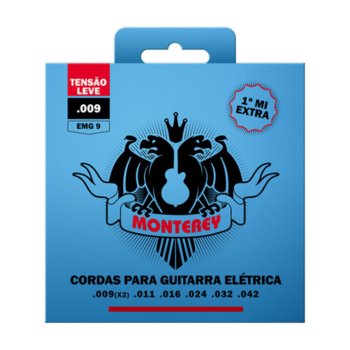 Jogo de Cordas p/ Guitarra 009 - Monterey (1 Corda Mi Extra)