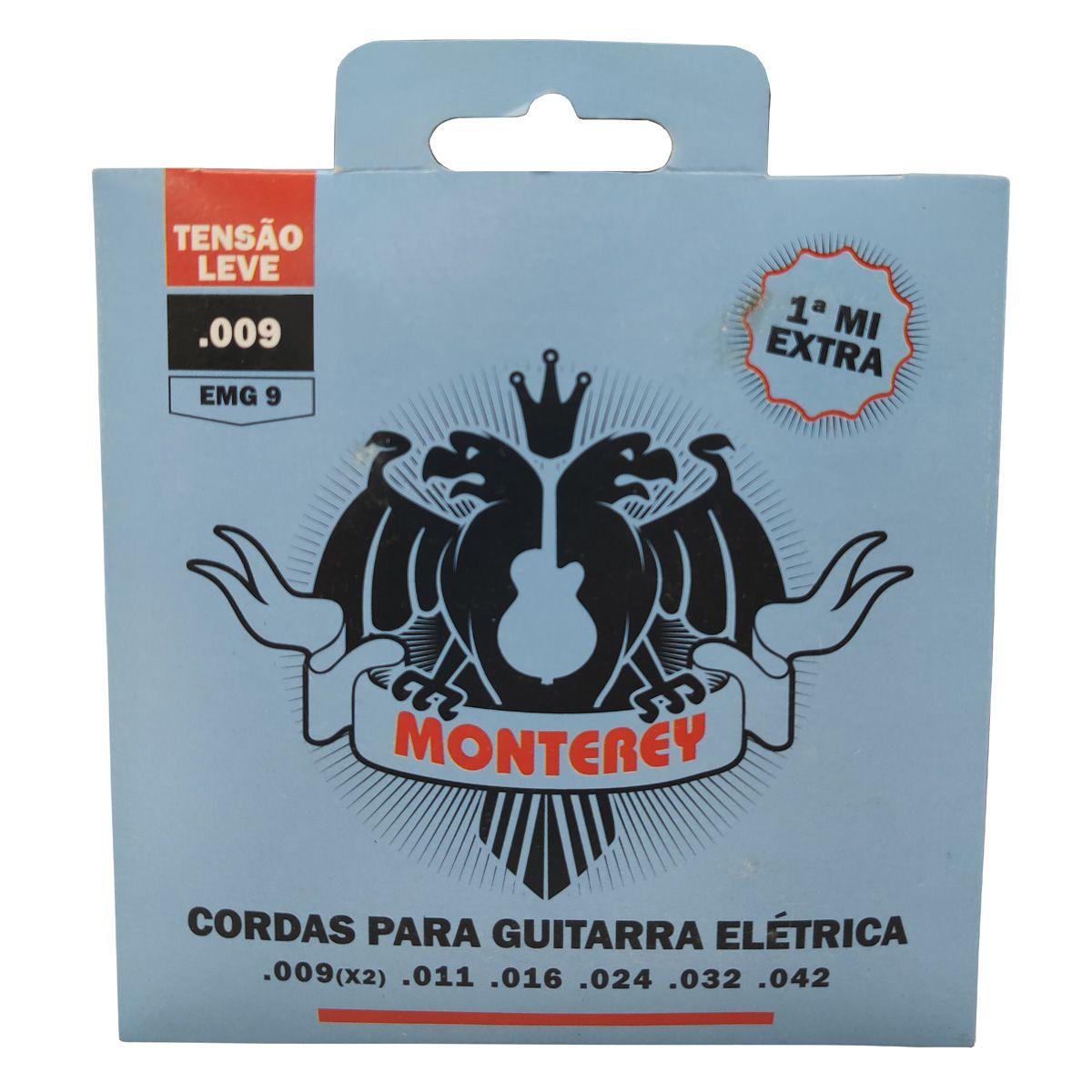 Jogo de Cordas p/ Guitarra 009 - Monterey (1 Corda Extra)  - RS Som e Luz!
