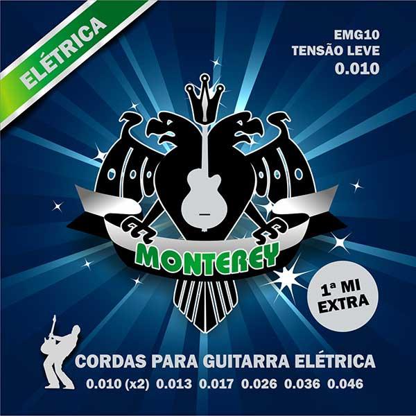 Jogo de Cordas p/ Guitarra 010 - Monterey (2 Cordas Extras)