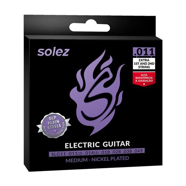 Jogo de Cordas p/ Guitarra 011 - Solez (2 Cordas Extras)