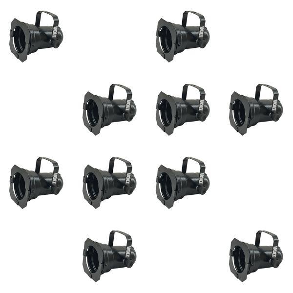 Kit 10 Unidades - Canhão Spot Par 20 Preto - Volt