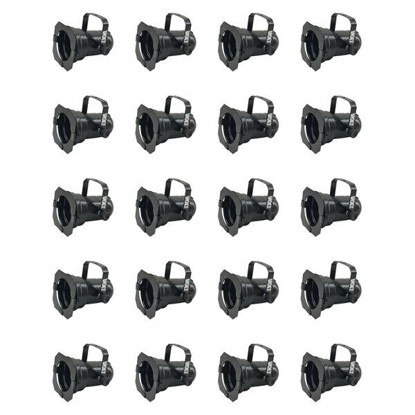 Kit 20 Unidades - Canhão Spot Par 20 Preto - Volt