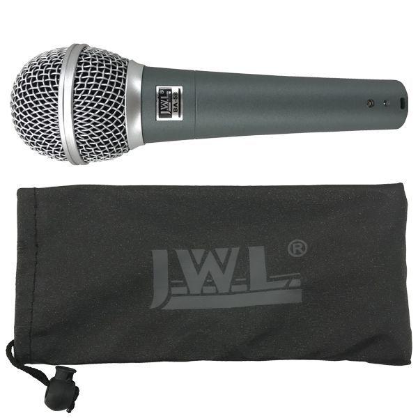 Kit 3 Unidades - Microfone Profissional com Fio BA 58 - JWL  - RS Som e Luz!