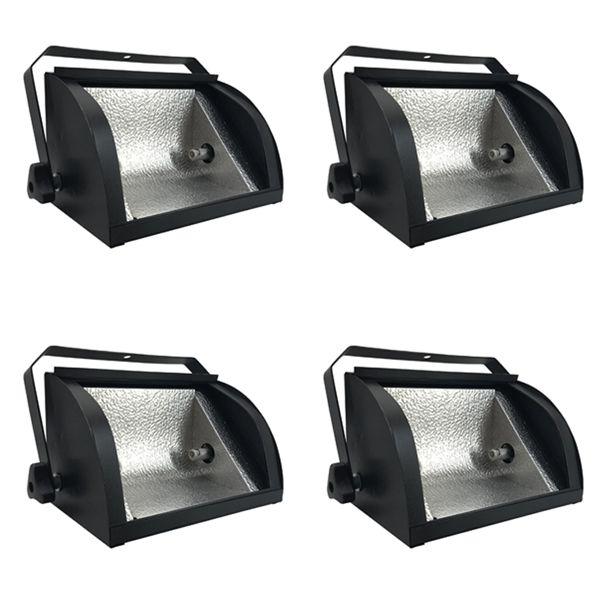 Kit 4 Unidades - Refletor Set Light 1000w Preto