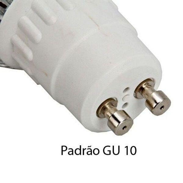 Kit 5 unidades - Lampada Dicroica Mr 16 Led 3w Branco Frio + Soquete Gu 10  - RS Som e Luz!