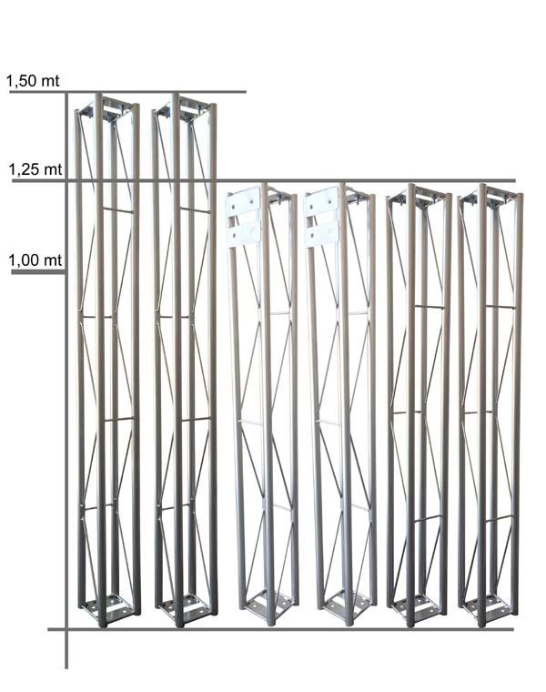 Kit Estrutura em Gol para Iluminação Box Truss - RS  - RS Som e Luz!