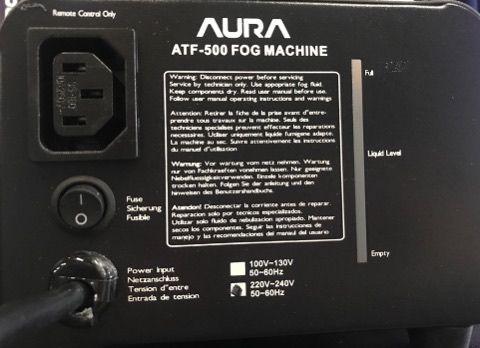 Máquina de Fumaça ATF 500 220V - Aura  - RS Som e Luz!