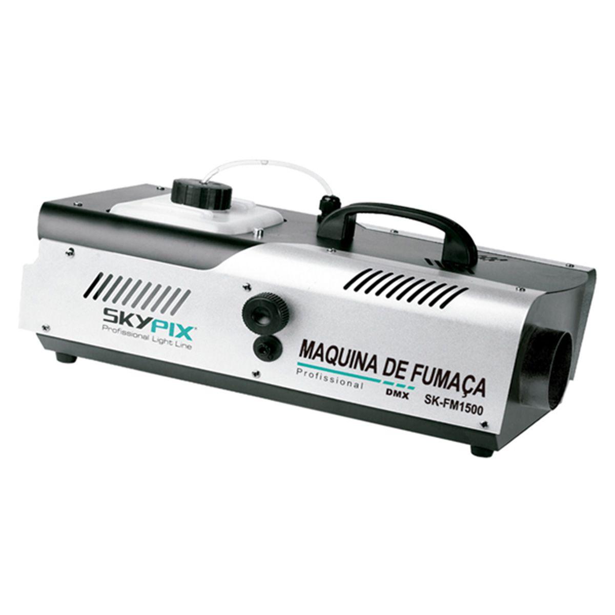 Máquina de Fumaça SK FM 1500 DMX / 220v - Skypix