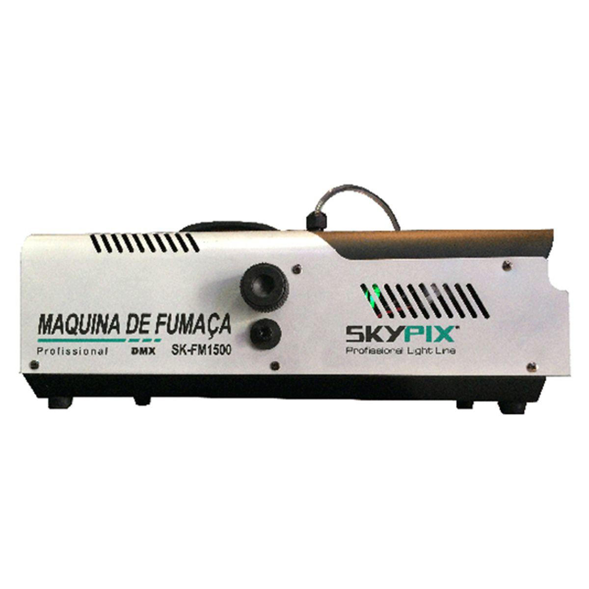 Máquina de Fumaça SK FM 1500 DMX / 220v - Skypix  - RS Som e Luz!