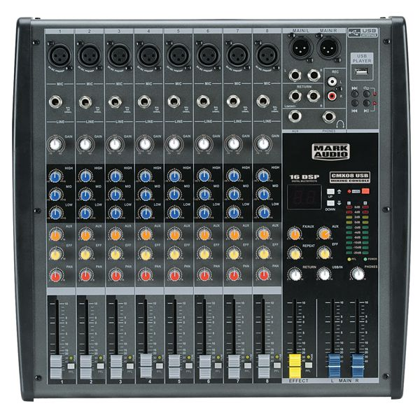 Mesa de Som CMX 8 Canais c/ USB - Mark Audio