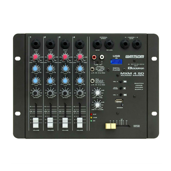 Mesa de Som MXM 4 SD / USB - Ciclotron  - RS Som e Luz!