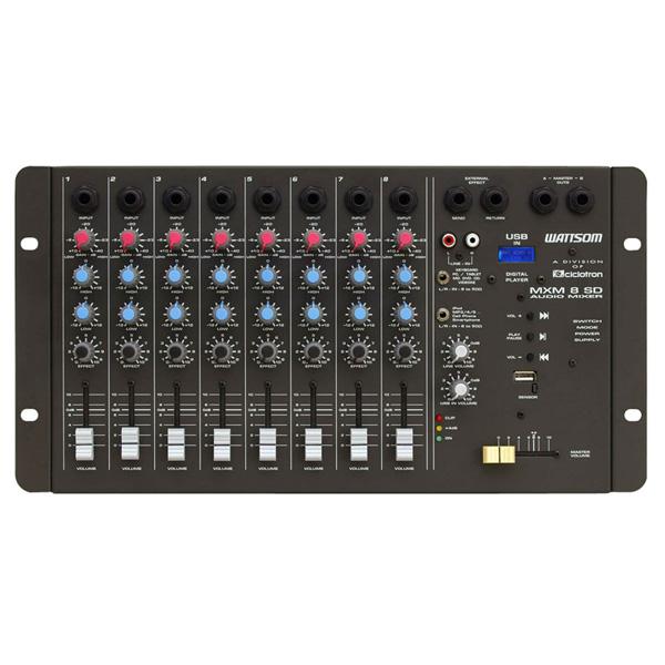 Mesa de Som MXM 8 SD / USB - Ciclotron  - RS Som e Luz!