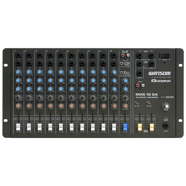 Mesa de Som MXS 12 SA - Ciclotron  - RS Som e Luz!
