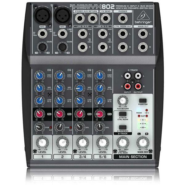 Mesa de Som Xenyx 802 110v - Behringer  - RS Som e Luz!