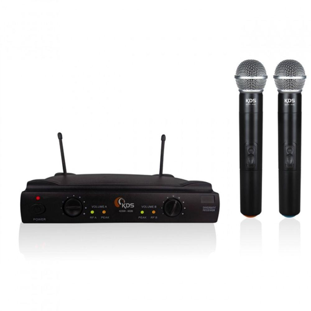Microfone Sem Fio Duplo Kdsw 402m - Kadosh