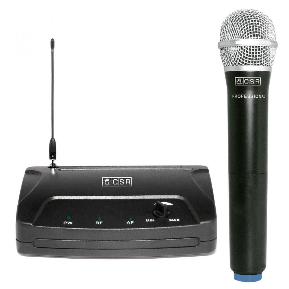 Microfone Sem Fio VHF 104H Bastão (Mão) - CSR
