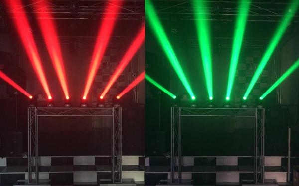 Mini Moving Beam Led RGBW 12w   - RS Som e Luz!