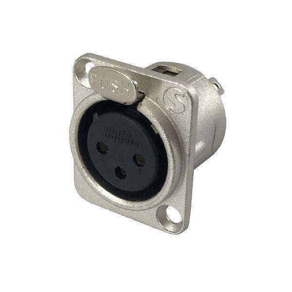 Plug Canon Femea Painel SAS P3F - Santo Angelo