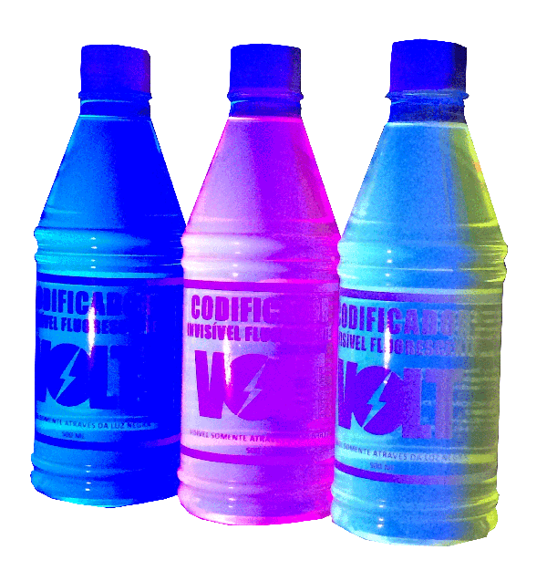 Tinta Invisivel Fluorescente - Azul - 500ml   - RS Som e Luz!