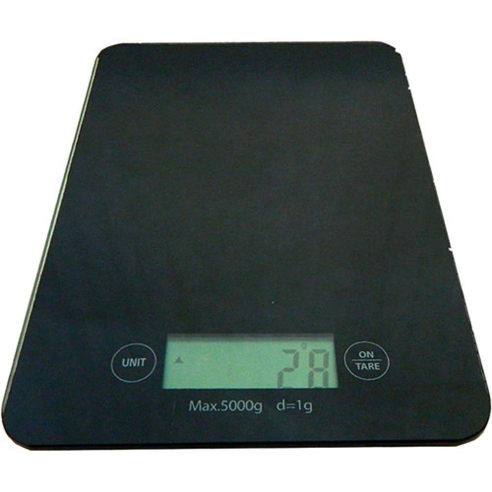 Balança Digital De Cozinha Ke-A 5kg Vidro Temperado Preto