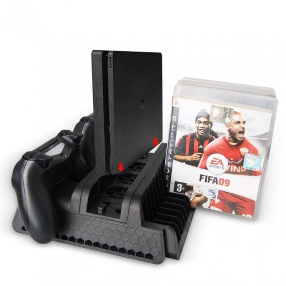 Base Suporte Vertical Ps4 Pro E Slim Multifuncional Playstation 4 Preto - Dobe